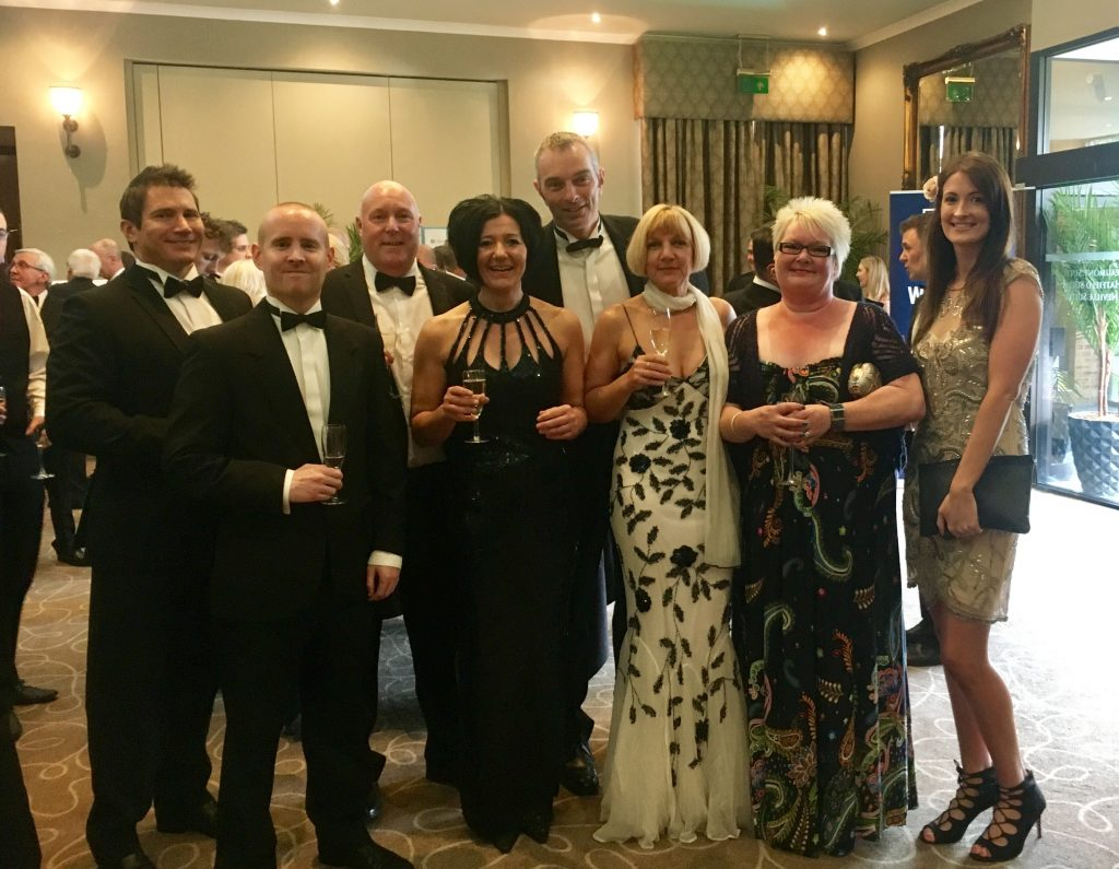 The team at the awards